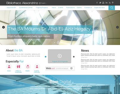 The New site of Bibliotheca Alexandrina