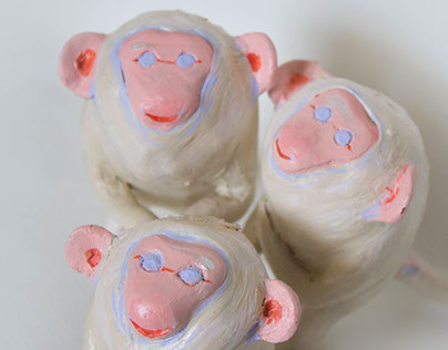 Year of the monkey sculptures