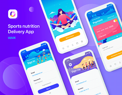 Sports nutrition Delivery App UI/UX