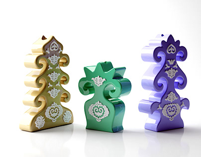 Tatar ornament vases