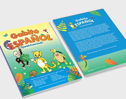 Gabito Spanish Game book illustrations and layout