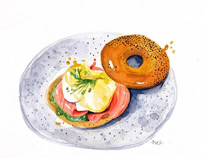 You art brunch - Food Illustration