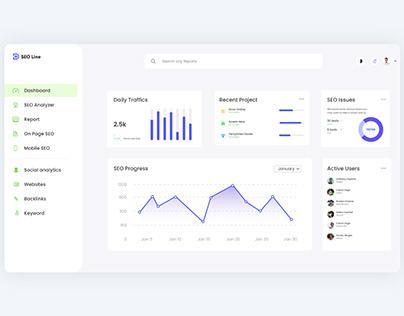 Modern & Clean SEO Dashboard UI/UX Design