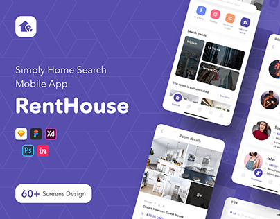 RentHouse - Simply Home Search Mobile App UI KIT