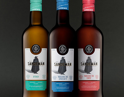 SANDEMAN SHERRY CLASSICS — Packaging & Label Design