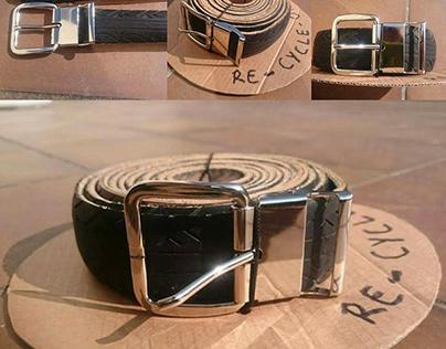 Mes premiers modèles de ceintures en pneu !