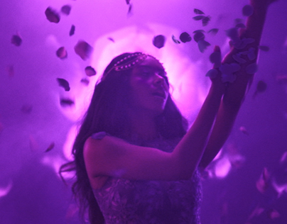 Caress 'Power of Touch' flower pedals VFX