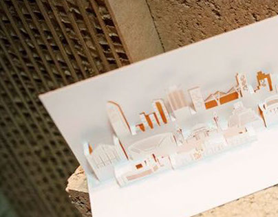 Amman Skyline Pop Up Card