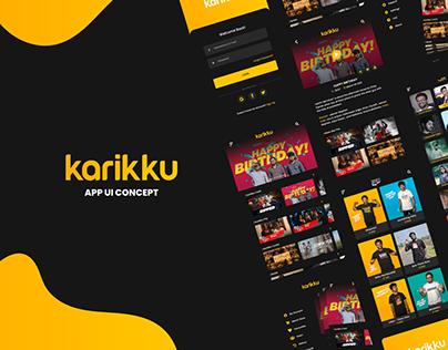 Karikku App UI Concept