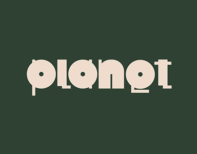 Planet — experimental typographic exploration