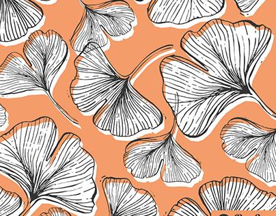 Gingko leaf pattern design
