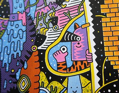 Amanece - 4 color silkscreen