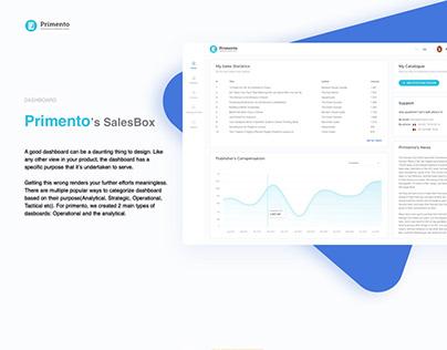 Primento - Dashboard design