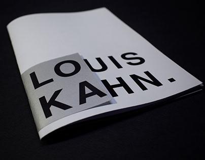 Louis Kahn fanzine A5/tipografía