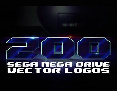 200 Mega Drive Logos