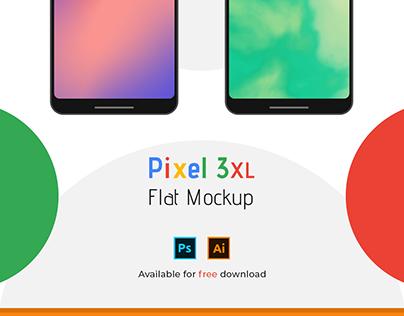 Pixel 3XL Flat Mockup   Psd/Ai Download Links
