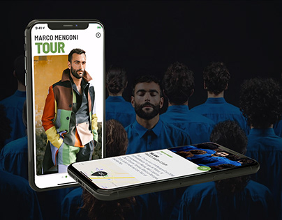 Marco Mengoni - Official Mobile App UI/UX Design