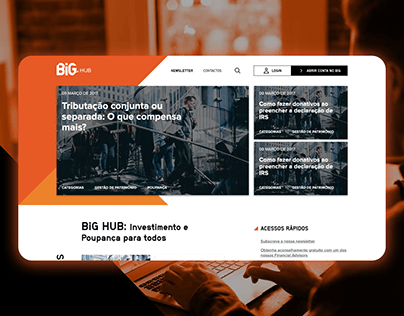BiG HUB - frontend development