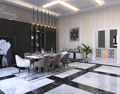 Dining 3Ds Max-Vray -PS