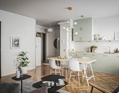 Cover an apartment in Ljusterogatan 33