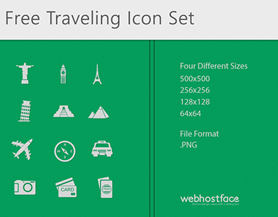 Free Traveling Icon Set