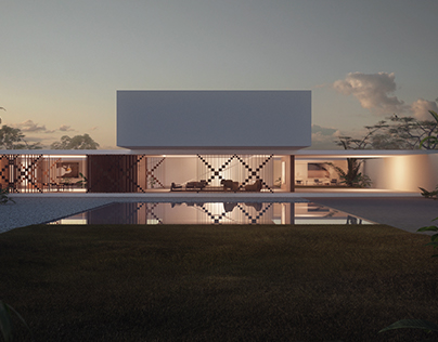 Private villa.  Rendering for OBR Architects