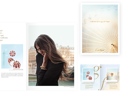 EDITORIAL DESIGN (Cartier, Guerlain, Club Med..)