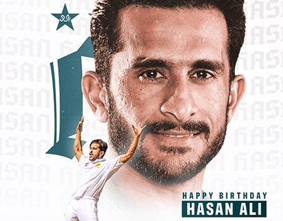 Hasan Ali Birthday Graphic