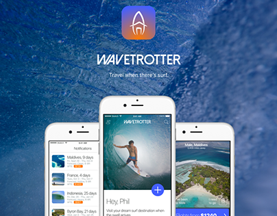 Wavetrotter - iOS Surf-Travel App Design