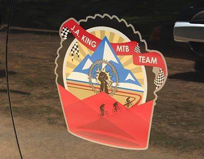 J.A. King Mountain Biking Team Logo