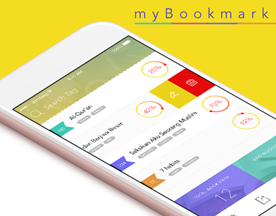 """myBookmark"" Mobile APP UI design for bookmark"