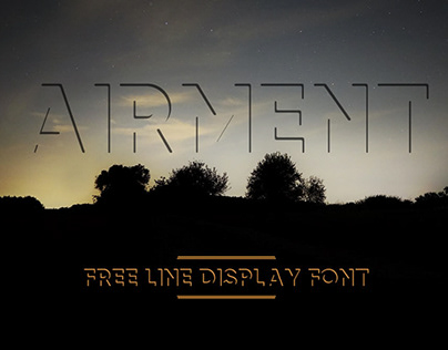 AIRMENT - FREE LINE DISPLAY FONT