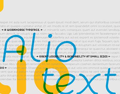 Alio Text + Free Demo Fonts