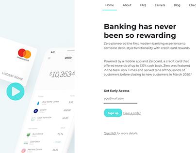 Zero Financial | Web Design
