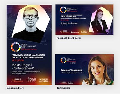GEW Macedonia: Online Event marketing and design