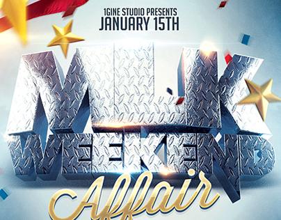 MLK Weekend Affair Flyer Template
