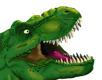 T-Rex Digital Painting
