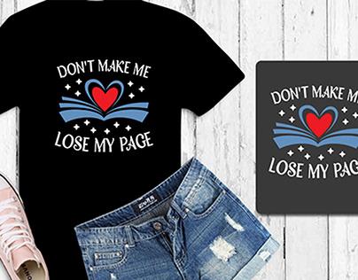 Funny book lover Typography Unique Tshirt design
