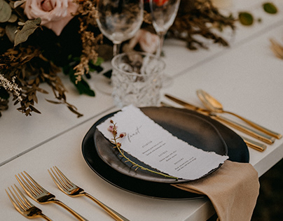 Moroccan-themed Menus and Placecards - Styled Shoot