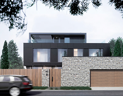 Modern private house