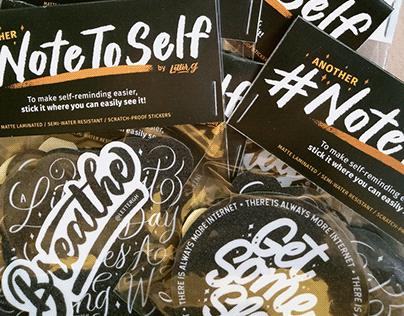 #NoteToSelf Vol. 2 Sticker Pack