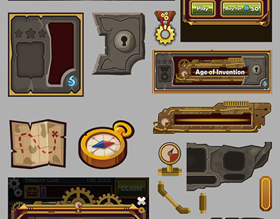 Mobile Game Design UI Characters Icons