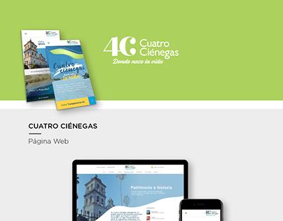 Cuatro Cienégas | Sitio web & Social media