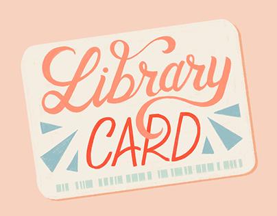 Library Card | Simple Joys Illustration Series