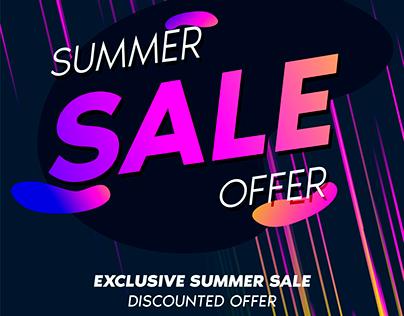 E-Commerce Website Summer Sale Facebook Banner Design