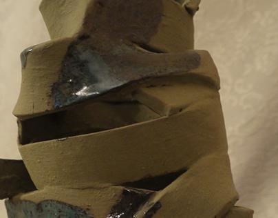Ribbon Coil Sculpture