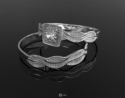 3D Model (rings) Jewelry
