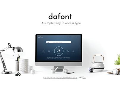 Dafont.com- Website redesign