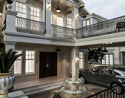 Twin House Facade