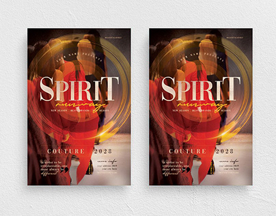 Spirit Runway Flyer Template